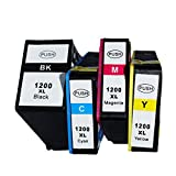 Tyjtyrjty set of Canon PGI-1200XL New Compatible Ink Cartridge Use for Canon MAXIFY MB2020/2320 Printer 4 pack 1BK 1C 1M 1Y)