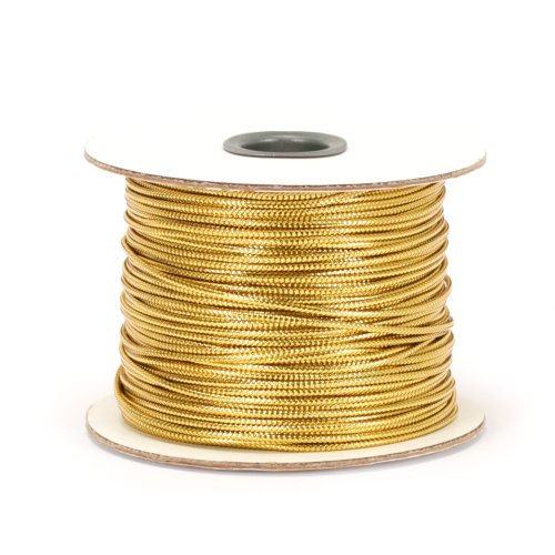 Berwick 100 Yard Spool Tinsel Non-Stretch Metallic Cord, Gold -