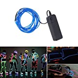 1/2/3M Neon Led Light Glow El Wire String Strip Rope Tube Decor Car +Controller