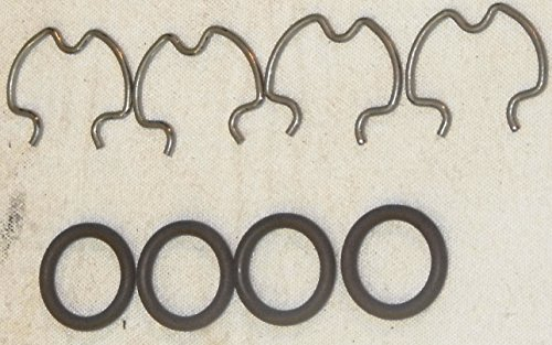 GM 4L60E Transmission Cooler Line O-Ring & Clip Fittings Kit (Set of 4) Global Transmission (Transmission Line Fitting Kit)