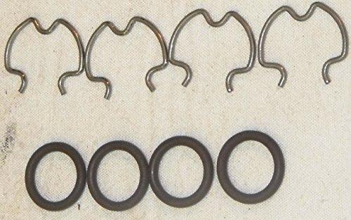 GM 4L60E Transmission Cooler Line O-Ring & Clip Fittings Kit (Set of 4) Global Transmission Parts (Line Clip Kit)