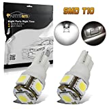 2006 Ford Freestyle License Plate Light Bulbs - Partsam 2PCS White T10 168 194 2825 5-5050-SMD License Plate LED Lights Lamp Bulbs