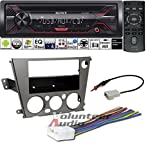 Volunteer Audio Sony CDX-G1200U Double Din Radio Install Kit with CD Player, USB/AUX Fits 2005-2009 Subaru Legacy, Outback