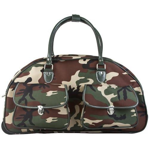 b3649eb28a09 Ever Moda Camo Rolling Duffle Bag [5ZYga0207196] - $37.99