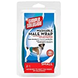 Simple Solution Washable Male Wrap Dog Diaper, Small, Teal