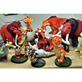 Hard to Find 10 Piece Ice Age Figure Play Set Featuring Crash Eddie Ellie Scratte Manny Scrat Sid and More -