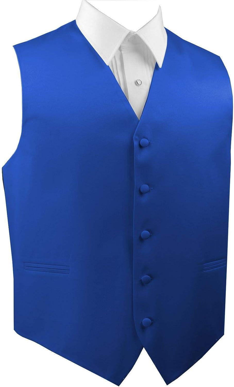 Italian Design Mens Formal Tuxedo Vest-Royal Blue-6XL