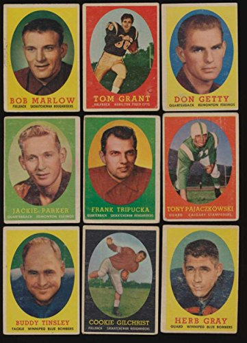 1958 Topps CFL Football G avg complete 88 card set very low grade 47042