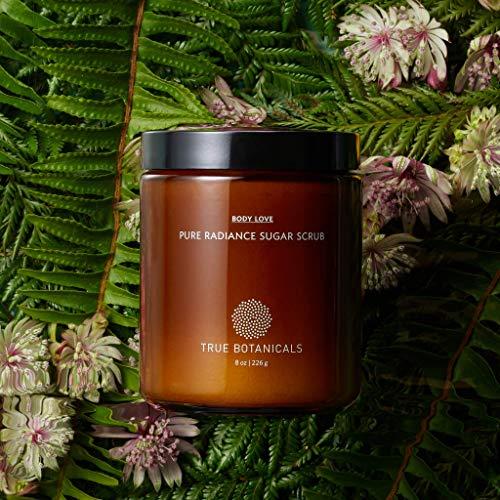 True Botanicals – Organic Pure Radiance Sugar Exfoliating Body Scrub | Clean, Non-Toxic, Natural Skincare (8 oz | 226 g)