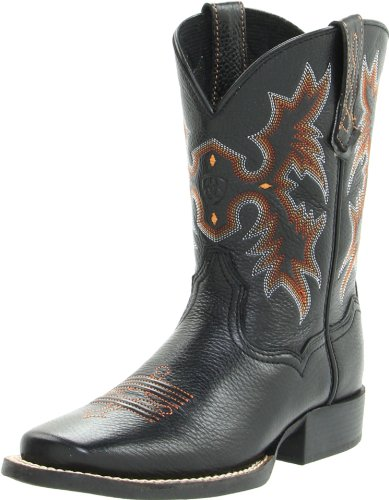 (Kids' Tombstone Western Boot (Toddler/Little Kid/Big Kid),Black/Deer Tan,6 M US Big Kid)
