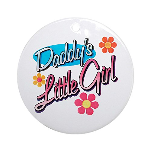 Ornament (Round) Daddy's Little Girl Flowers Daughter