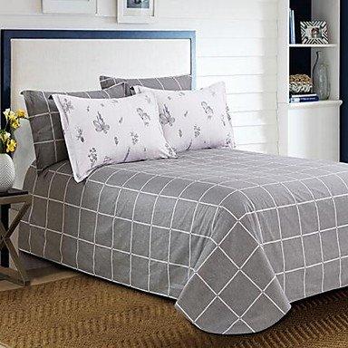 DB&PEISHI Solid 4 Piece Cotton Cotton 1pc Duvet Cover 2pcs Shams 1pc Flat Sheet , 200cm230cm