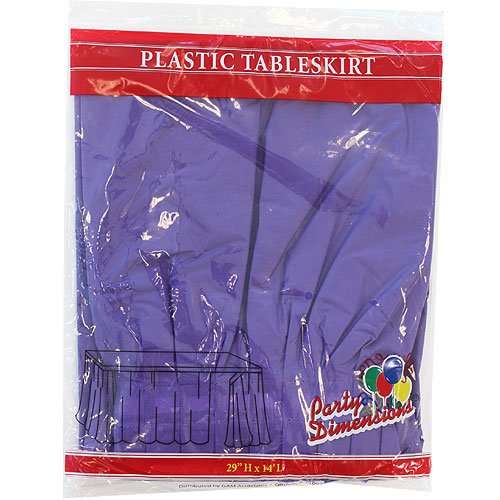 Plastic Table Skirts - 13 Colors- Pack of 2 Select Color: Purple