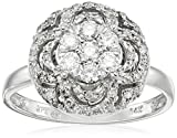 14k White Gold Circle Cluster Diamond Ring (1/2 cttw, H-I Color, I1-I2 Clarity)