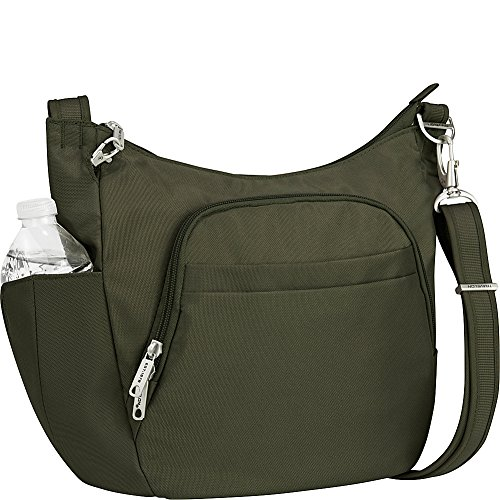 Travelon Anti-Theft Classic Crossbody Bucket Bag - Exclusive Colors (Olive-