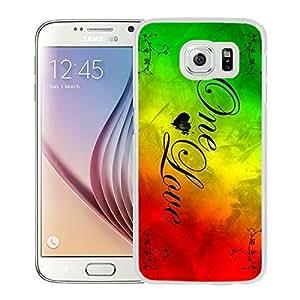 Rasta Reggae White Samsung Galaxy S6 Screen Cover Case Genuine Design High Quality