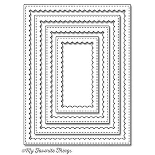 Stitched Rectangle Scallop Frames Die-namics