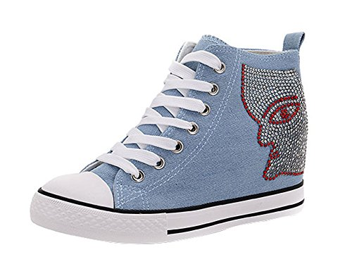 perfectaz-women-rhinestone-denim-canvas-round-toe-lace-up-mid-top-increased-within-flat-fashion-snea