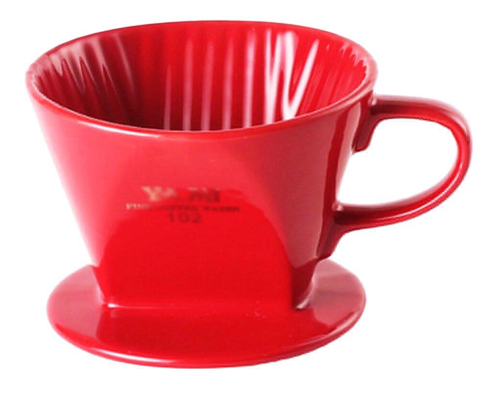 Tea /エスプレッソ/コーヒーアクセサリーコーヒーフィルタカップレッド( 102フィルタ用紙)   B01BIUHSD2