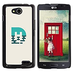 Be Good Phone Accessory // Dura Cáscara cubierta Protectora Caso Carcasa Funda de Protección para LG OPTIMUS L90 / D415 // blue mark M
