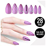 Tip Beauty Plum Purple Fake Nail Kit, Sugar Plum Fairy, Faux Nails for Women, Fake Nails for Kids, Glue on Nails, Instant Nails for Ladies False Nails with Glue - MSRP $18