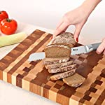 Orblue Serrated Bread Knife Ultra-Sharp Stainless Steel Professional Grade Bread Cutter - Cuts Thick Loaves Effortlessly - Ideal for Slicing Bread, Bagels, Cake (8-Inch Blade with 4.9-Inch Handle) 9 For HUGE Discounts See Special Offers Above