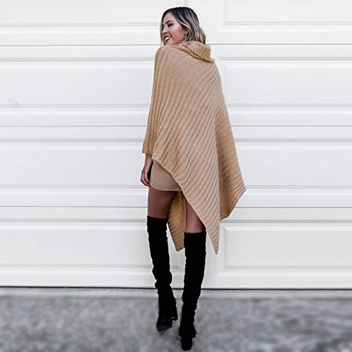 Cape Oversized WanYang Chandails Femme Chaud Pull Vrac Dames Tricotage over En Kaki Jumper Pull Poncho a44wExrtq