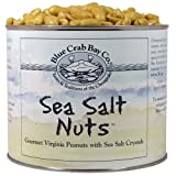 Blue Crab Bay Sea Salt Nuts - All Natural Virginia Peanuts With Sea Salt - 40 oz Can