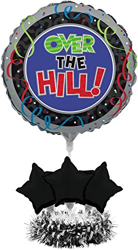Over The Hill Centerpieces (Creative Converting Balloon Centerpiece Kit, Over The)
