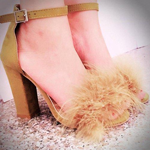 Elegant boda Transer® altos de oficina Zapatos Ladies Marrón Zapatos Sandals de Tacones de Sandalias Mujer trabajo dCqfHw