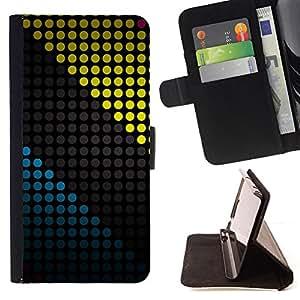 BullDog Case - FOR/Samsung Galaxy Core Prime / - / COLORED DOTS PATTERN /- Monedero de cuero de la PU Llevar cubierta de la caja con el ID Credit Card Slots Flip funda de cuer