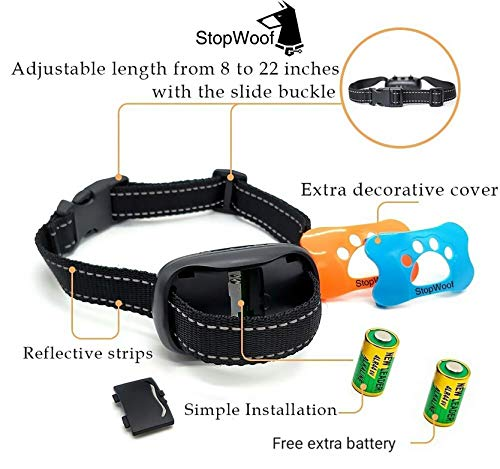 Dog Bark Collar New Version 2019 Sound Vibration Humane Training Collar For Small Medium Large Dogs No Shock Safe Pet Waterproof