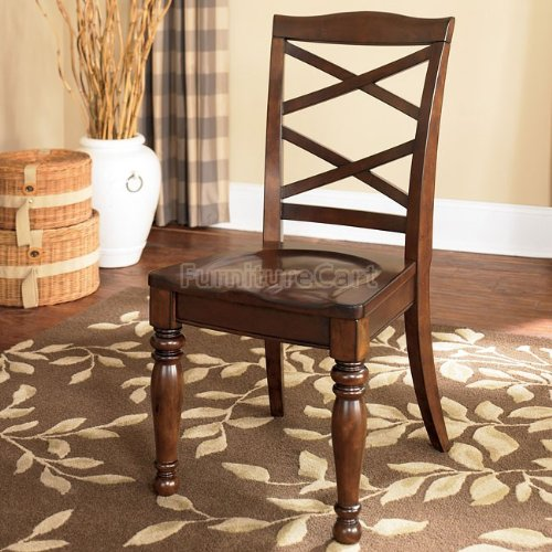 Signature Design by Ashley D697-01 Porter Dining Chair, Rustic Brown Review