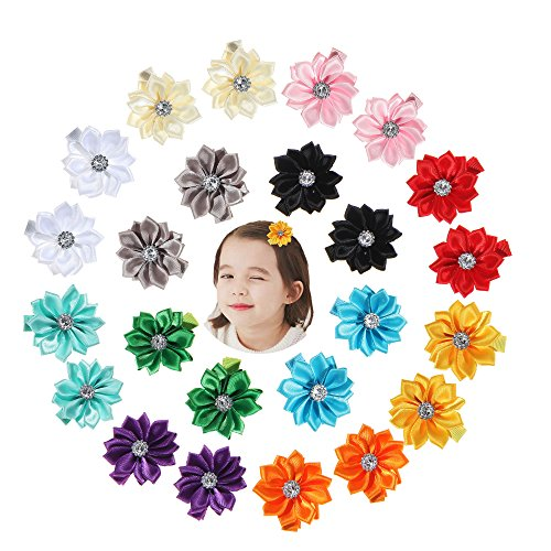 Globalsupplier 10 Pairs Alligator Hair Clips Grosgrain Bow Chiffon Flower for Baby Girl Toddlers (C12) from Globalsupplier