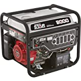 NorthStar Portable Generator – 8000 Surge Watts, 6600 Rated Watts, Electric Start, EPA and CARB-Compliant