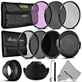 72MM Must Have Lens Filter Accessory Kit for CANON (EF 35mm f/1.4L, EF 85mm f/1.2L II, EF 135mm f/2L), NIKON (85mm f/1.4, 18 200mm f/3.5 5.6G) Lenses - Includes: 72MM Vivitar Filter Kit (UV, CPL, FLD) + Altura Photo ND Neutral Density Filter Set (ND2, ND4, ND8) + Carry Pouch + Tulip Lens Hood + Collapsible Lens Hood + Snap-On Front Lens Cap + Cap Keeper Leash + MagicFiber Microfiber Lens Cleaning Cloth