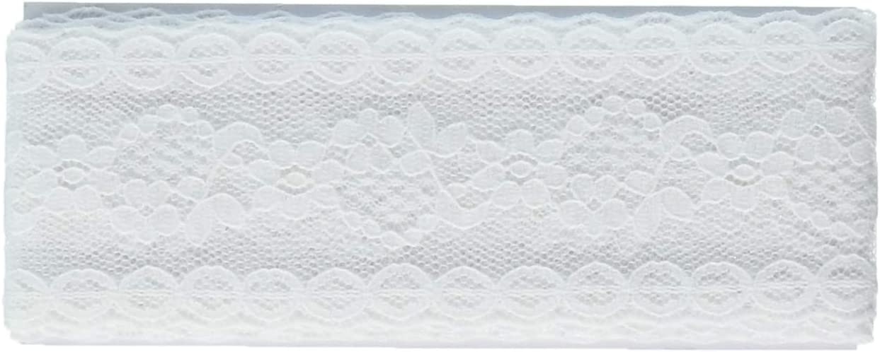 White 2.5-Yard Wrights 117-306-030 Flexi Lace Hem Facing