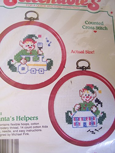 Santa's Helpers Counted Cross Stitch Ornament Kit