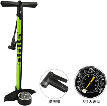 HAO Mini Bomba de Bicicleta, Bombas de pie, Fácil de Usar, Bomba de Aire Manual, manómetro, para válvulas de Presta y Schrader 180 PSI, Coche eléctrico para Bicicleta de montaña: Amazon.es: Deportes