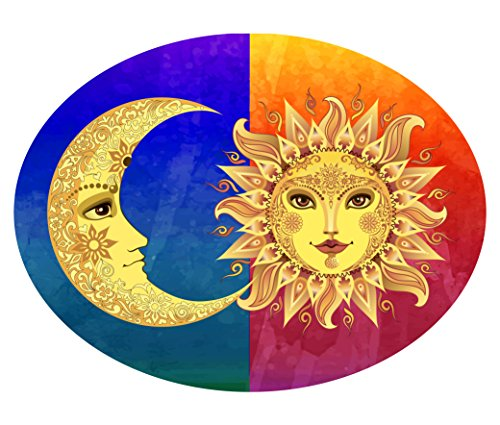 Sun and Moon Metal Plaque Wall Art designed and made by GIFT