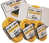 Tools & Hardware : Woods Industries 50 Ft Yellow Jacket 12/3 Contractor Grade Cord Flexible Abrasion Resistant