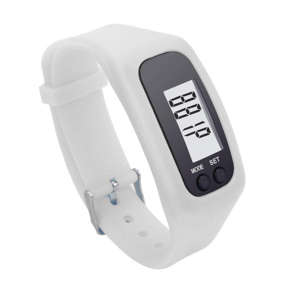 Gray Simply Operation Walking Running Pedometer with Calories Burned and Steps Counting BATAUU Best Pedometer