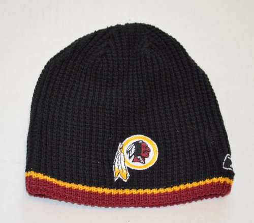 (YOUTH Washington Redskins Reebok Reversible Skull Cap - NFL Cuffless Beanie Kids Winter Knit Toque Cap)