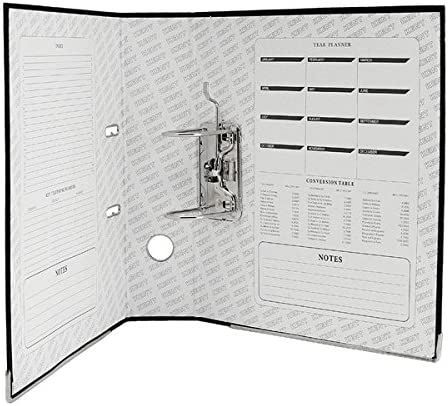 Hvlystory A4 Binder,Large Lever Arch File Folder with Ring,Metal Finger Pull Blue