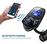 AVANTEK Bluetooth FM Transmitter, In-Car Universal Wireless Radio Adapter Hands-free Car Kit with TF / Micro SD Card Slot and USB Car Charger