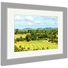 Ashley Framed Prints Sky Beautiful Golf Courses In Rayong Thailand, Wall Art Home Decoration, Color, 34x40 (frame size), Silver Frame, AG5856172