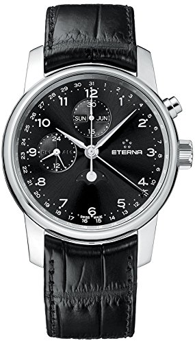 Eterna Men's 8340.41.44.1175 Soleure Stainless steel Moon Phase Chronograph Watch (Chronograph Moon Wrist Phase Watch)