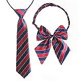Aimeely Classic Children School Uniform Adjustable Bow Tie And Necktie Set 1#