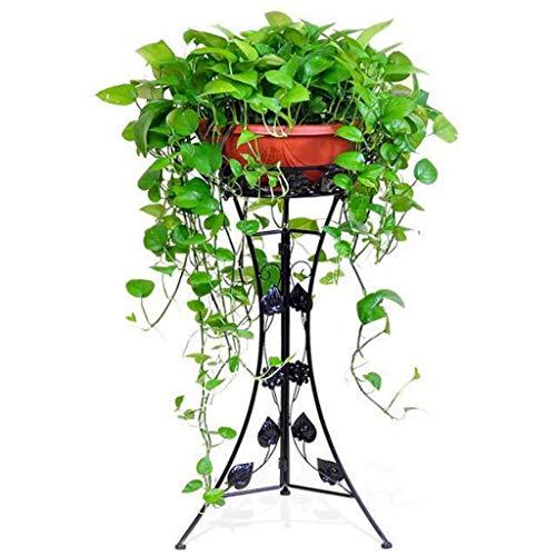 G-ZWJHLCW 1-Pack Iron Art Flowerpot Stands,Elegant Design Floor Shelf, Indoor Outdoor Garden Patio Plant Bonsai Decorative Display Flower Rack