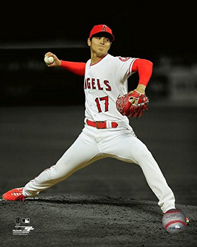 Los Photograph Angels Angeles (Shohei Ohtani Los Angeles Angels MLB Action Photo (Size: 8